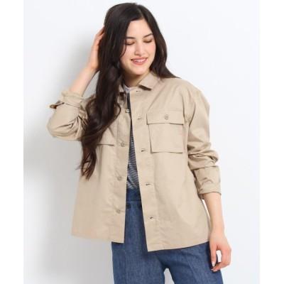 【デッサン】 コットンシャツジャケット レディース ライト ベージュ 02(M) Dessin