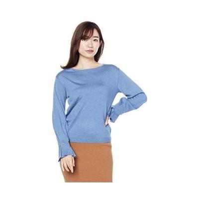 ナチュラルビューティーベーシック セーター メタルバーポイントニット レディース ブルー 日本 M (日本サイズM相当)