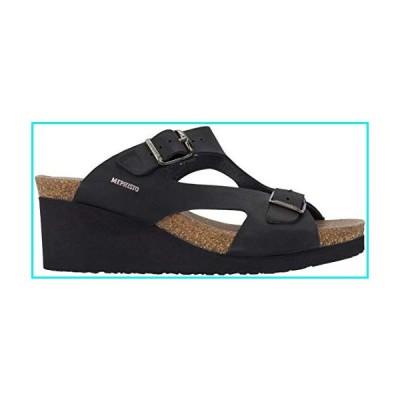 Mephisto Womens Terie Wedge Sandal, Black Nubuck, Size 8【並行輸入品】
