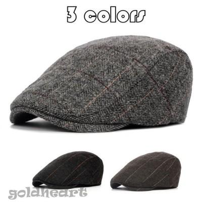 ハンチング帽子 メンズ帽子 冬帽子 ラシャ チェック柄 帽子 ぼうし  通気 耐寒 防風 保温 頭周り調整 アウトドア  秋 冬 春 男性 ファッション