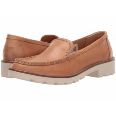 Sperry スペリー レディース 女性用 シューズ 靴 ローファー ボートシューズ A/O Lug Loafer Leather Tan【送料無料】
