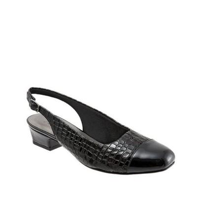 トロッターズ レディース パンプス シューズ Dea Patent Croco Print Slingback Block Heel Pumps