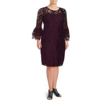 カルバンクライン レディース ワンピース Three-Quarter Bell Sleeve Lace Dress