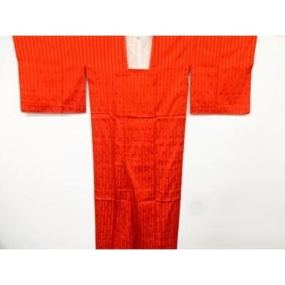 宗sou 縞に抽象模様織出し雨コート【リサイクル】【着】