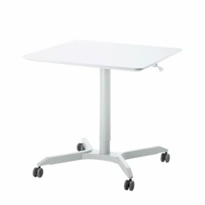 会議 シンプル 高さ調節 サンワサプライ ガス昇降ミーティングデスク(四角天板) ERD-MTGGS800W 事務所 オフィス 会社 テーブル 机