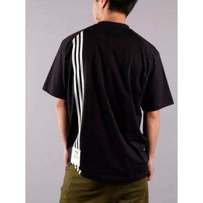 Y-3 / ワイスリー/ M 3 STRIPE SS TEE / スリーストライプ ショートスリーブTシャツ (ブラック) YOHJI YAMAMOTO 山本耀司 adidas アディダス 国内正規取り扱い