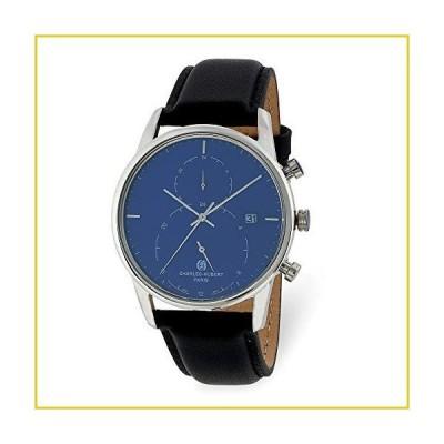 Charles Hubert Mens Stainless Steel Blue Dial Dual Time Watch並行輸入品