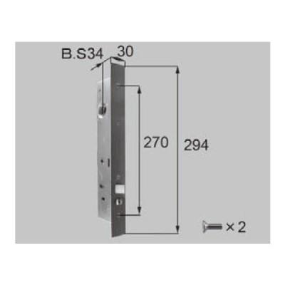 LIXIL リクシル 新日軽 ドア・引戸・内装材 ハンドル・クレセント・錠類 錠類 錠ケース S8DL350  部品