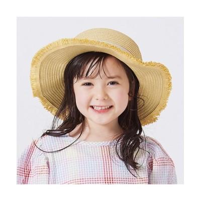 【エフオーオンラインストア】 リボンペーパーハット キッズ ベージュ 54 F.O.Online Store