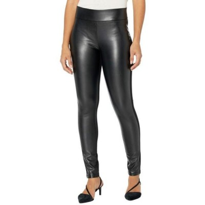 レディース パンツ Ponte/Faux Leather Leggings in Black