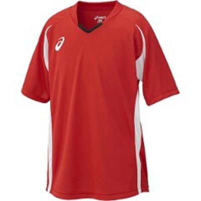 アシックス ASICS サッカー用(ジュニア用) Jr.ゲームシャツHS [カラー:レッド] [サイズ:140] #XS3140 スポーツ・アウトドア
