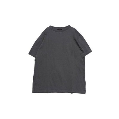 ジーラ GeeRA 綿100%機能付プリントTシャツ (チャコール×バックロゴ)