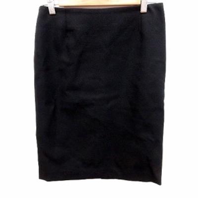 【中古】アイシービー iCB スカート タイト ひざ丈 9 黒 ブラック /RT レディース