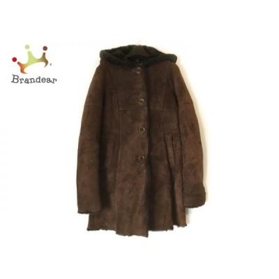 オーウェンバリー OWEN BARRY コート サイズ36 S レディース ダークブラウン 冬物/ムートン     スペシャル特価 20210101