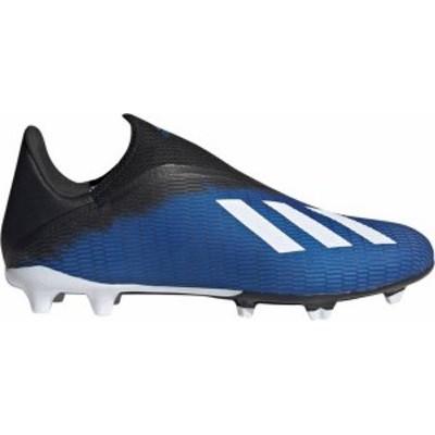 アディダス メンズ スニーカー シューズ adidas Men's X 19.3 Laceless FG Soccer Cleats Blue/White