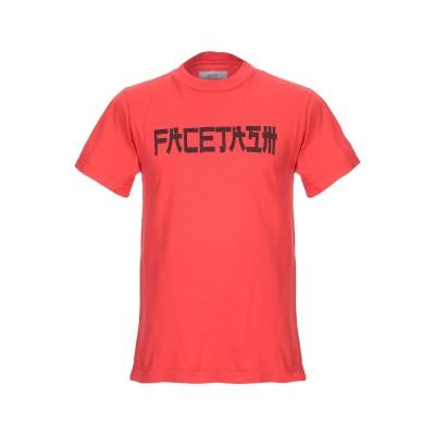 ファセッタズム FACETASM T シャツ レッド 3 コットン 100% T シャツ