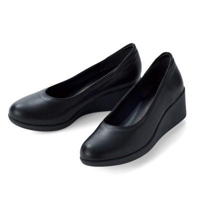 シューズ 靴 レディース / ユリコ・マツモト 牛革ウェッジパンプス / 40代 50代 60代 70代 ミセスファッション シニアファッション