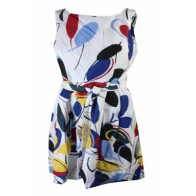 ファッション ドレス Ana Klein Blanco bptico Multiple sin Mangas Gazebo Estampado con Vuelo Vestido