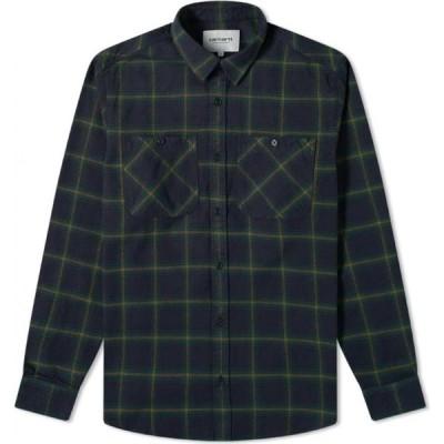 カーハート Carhartt WIP メンズ シャツ トップス darren shirt Bottle Green