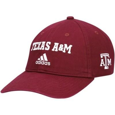カレッジ キャップ NCAA アギーズ 帽子 Wordmark Three-Stripe Lockup Adjustable Hat アディダス Adidas マルーン