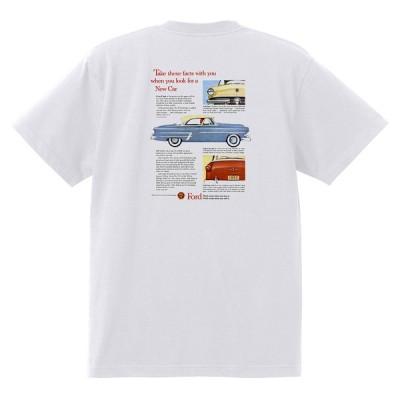アドバタイジング フォード Tシャツ 白 1023 黒地へ変更可 1953 ランチワゴン ビクトリア オールディーズ ロカビリー ホットロッド