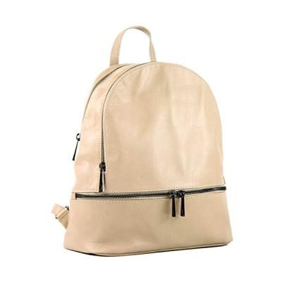 modamoda de - ital Sac 〓 dos pour femme en cuir Nappa T137, Colour:beige 並行輸入品