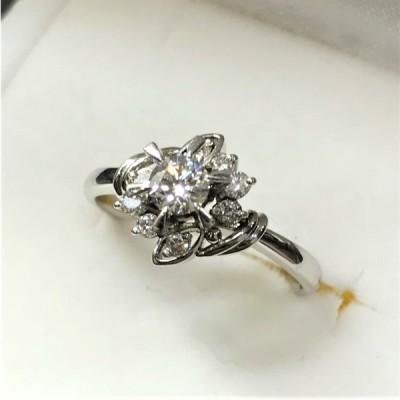 PT900 ラザールキャブラン ■ ダイヤモンドリング 0.2ct 指輪 ジュエリー 宝石 4.2g 未使用 A487-1