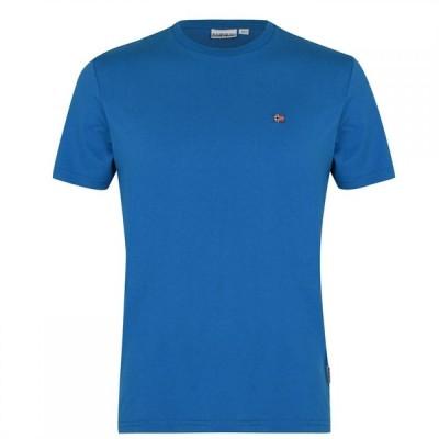 ナパピリ Napapijri メンズ Tシャツ トップス Salis Cotton Short Sleeved T-Shirt Mykons Blue BC