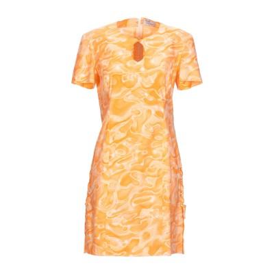 PRECIOUS by GIORGIO GRATI ミニワンピース&ドレス オレンジ 44 コットン 97% / ポリウレタン 3% ミニワンピース