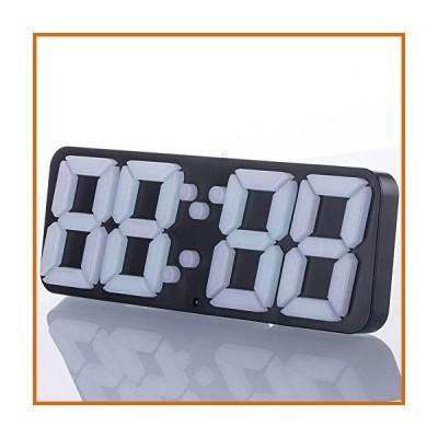 LED 時計 LittleCat 3D Stereo Alarm Clock Colorful Color Alarm Clock LED Digital Stereo Clock Wall Clock Alarm Clock (Color : 3D Model)