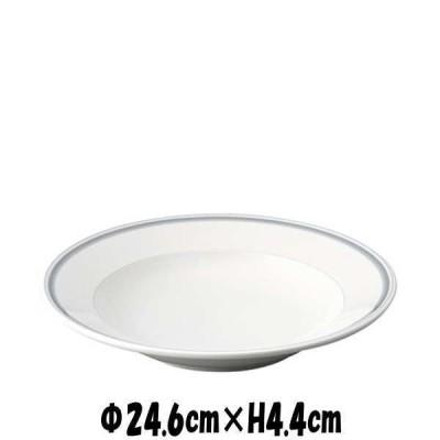 """パールライン 9.5""""スープ 白い陶器磁器の食器 おしゃれな業務用洋食器 お皿大皿深皿"""