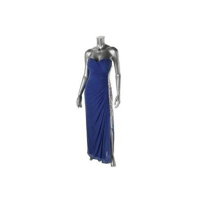 ドレス ワンピース Xscape Xscape 6943 レディース Embellished ストラップless Full-Length Evening ドレス Gown BHFO