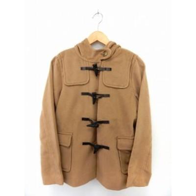 【中古】ショコラフィネローブ chocol raffine robe コート アウター ダッフルコート ポケット フード シンプル M 茶