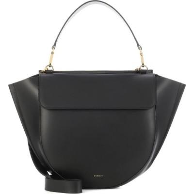 ワンダラー Wandler レディース ショルダーバッグ バッグ Hortensia Big leather shoulder bag Black