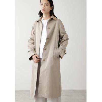 HUMAN WOMAN / ◆ノーカラーツイルコート WOMEN ジャケット/アウター > ステンカラーコート