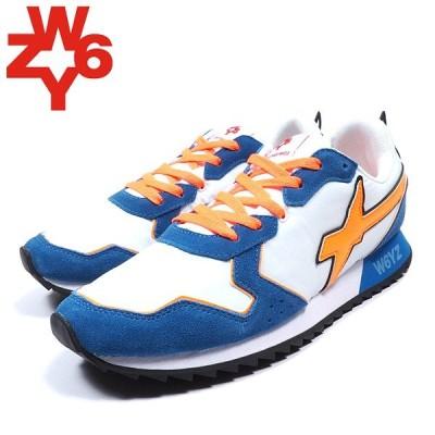 W6YZ ウィズ JET-Mスニーカー ORANGE/BLUE オレンジ×ブルー ランニングスニーカー 靴 シューズ ローカット レザー ストリート イタリア メンズ 送料無料 新作