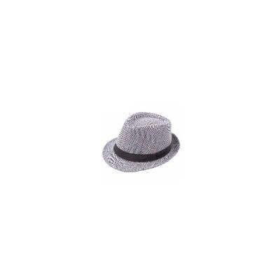 (ホワイト & レッド)メンズイギリススタイルClassic紳士パナマフェドーラ帽子カジュアルワイドブリムサンジャズハット