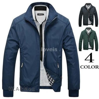 ジャケット メンズ スタジャン 立ち襟 ブルゾン ジャンパー ミリタリージャケット 秋服 ライトアウター 父の日 2021