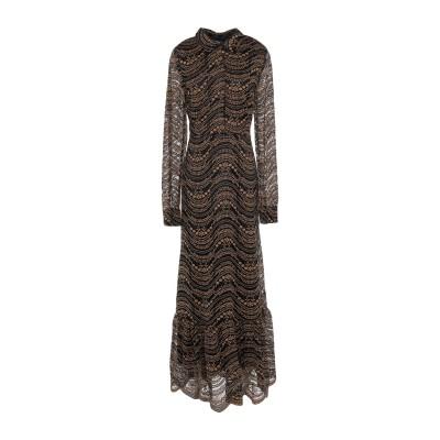 OTTOD'AME ロングワンピース&ドレス ブラック 42 レーヨン 100% ロングワンピース&ドレス