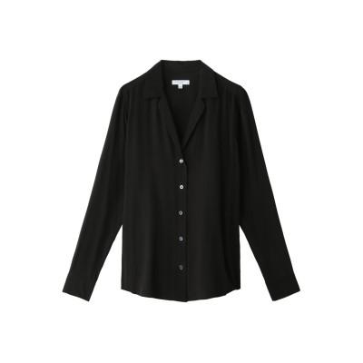 EQUIPMENT エキップモン ADALYN Vカットシルクシャツ レディース ブラック S