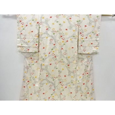 宗sou 橘模様小紋着物【リサイクル】【着】