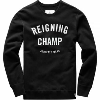 レイニングチャンプ Reigning Champ メンズ スウェット・トレーナー トップス Midweight Gym Logo Crewneck Black/White