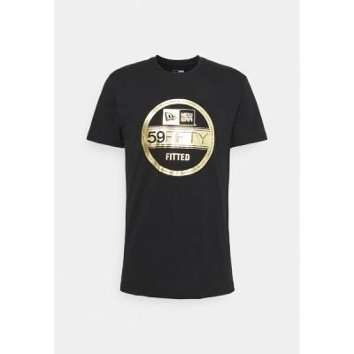 ニューエラ Tシャツ メンズ トップス ESSENTIAL VISOR STICKER TEE - Club wear - black/gold