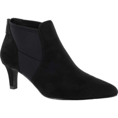 イージーストリート Easy Street レディース ブーツ ショートブーツ シューズ・靴 Saint Ankle Bootie Black Suede