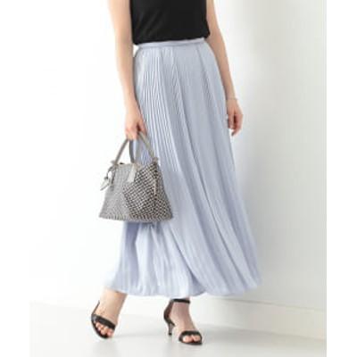 【アウトレット】Demi-Luxe BEAMS / ロイヤルサテン プリーツスカート