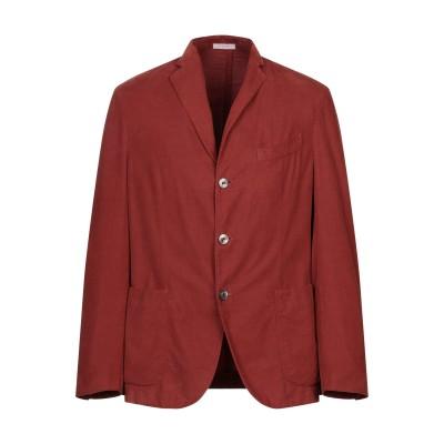 ボリオリ BOGLIOLI テーラードジャケット 赤茶色 46 コットン 100% テーラードジャケット