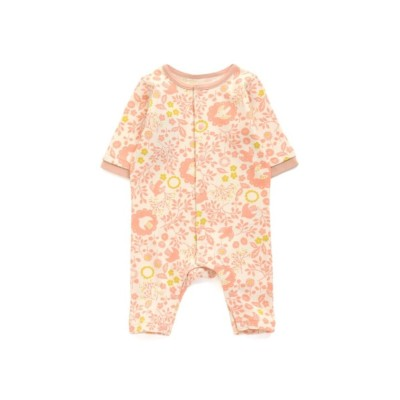 【Ampersand アンパサンド】小鳥とお花総柄カバーオール 【ベビー服】Babywear