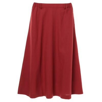 ・SUGAR SPOON 麻混フレアギャザースカート
