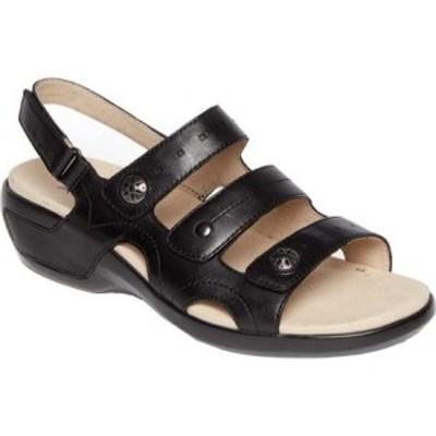 アラヴォン Aravon レディース サンダル・ミュール シューズ・靴 PC Three Strap Slingback Sandal Black/Black Leather
