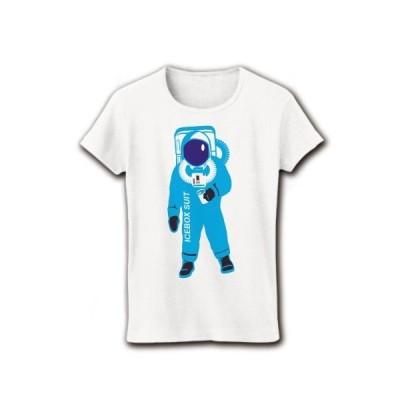 冷蔵庫スーツ リブクルーネックTシャツ(ホワイト)